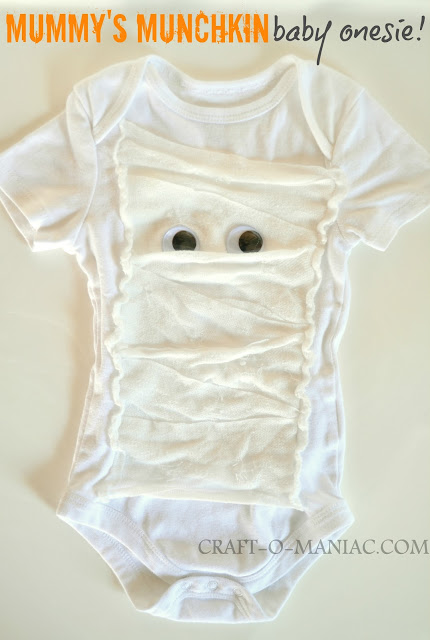 DIY mummy baby onesie from Craft-o-maniac