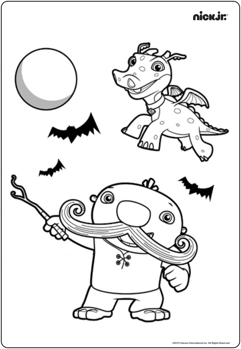 Nick Jr Halloween colouring pages