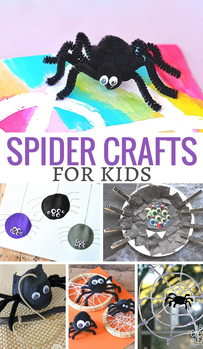 Fun Spider crafts for kids. they are so cute! and easy