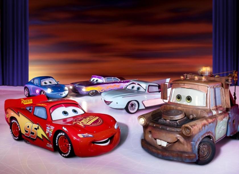 disney on ice worlds of enchantment cars