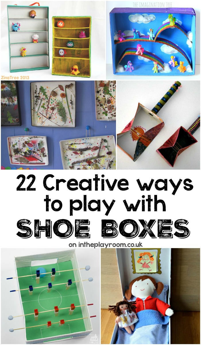 Creative ideas to make with cardboard shoe boxes in the for Craft boxes for children