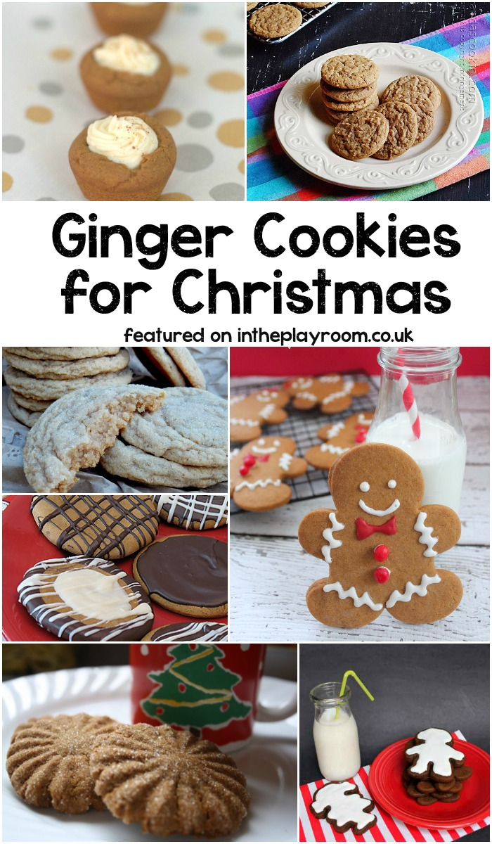 Ginger cookie recipes for Christmas. Yummy ideas for holiday cookie swaps, huge list of christmas cookie recipes by category