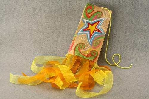 Paper bag kite craft for kids