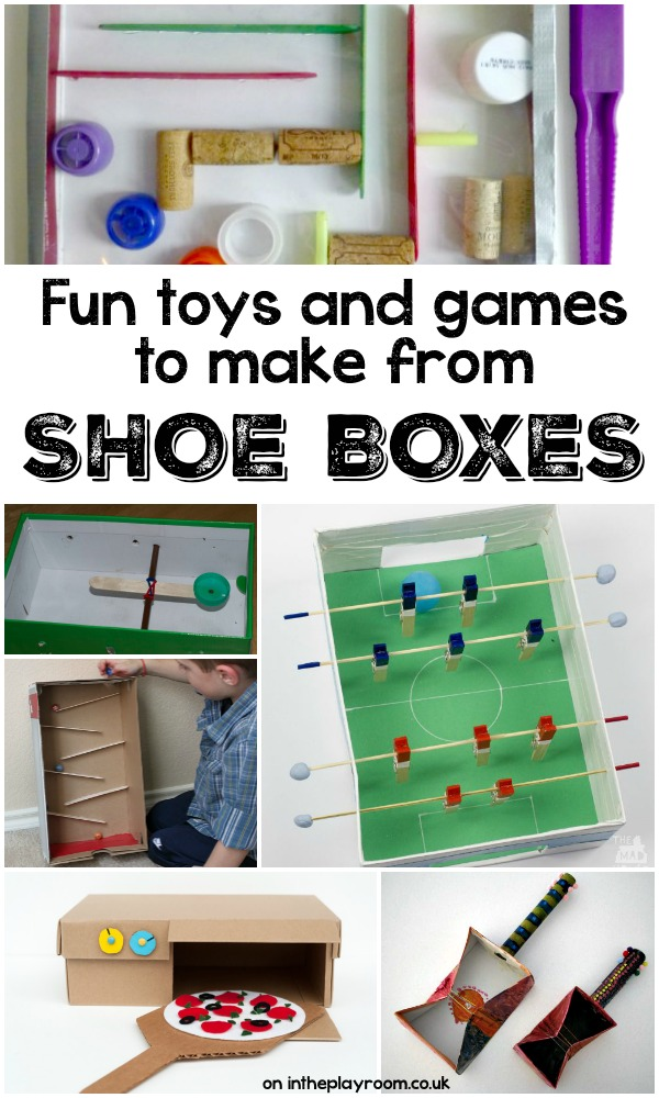 Creative ideas to make with cardboard shoe boxes in the for Cool things to make out of a shoe box