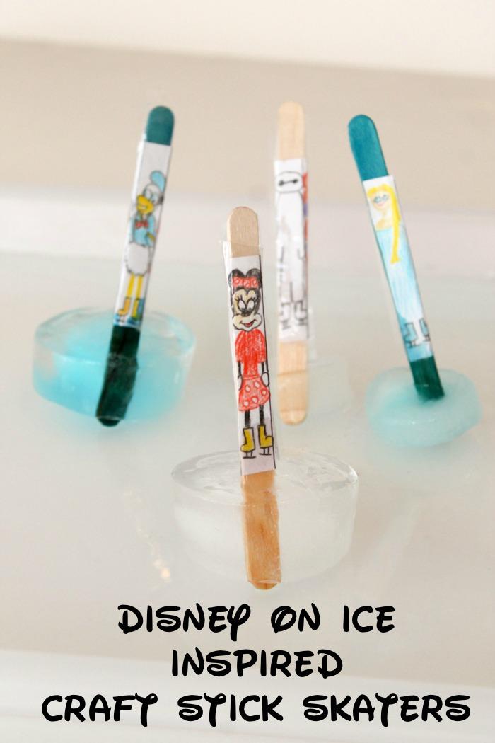 disney on ice craft stick skaters