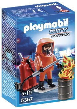 playmobil special forces firefighters figure