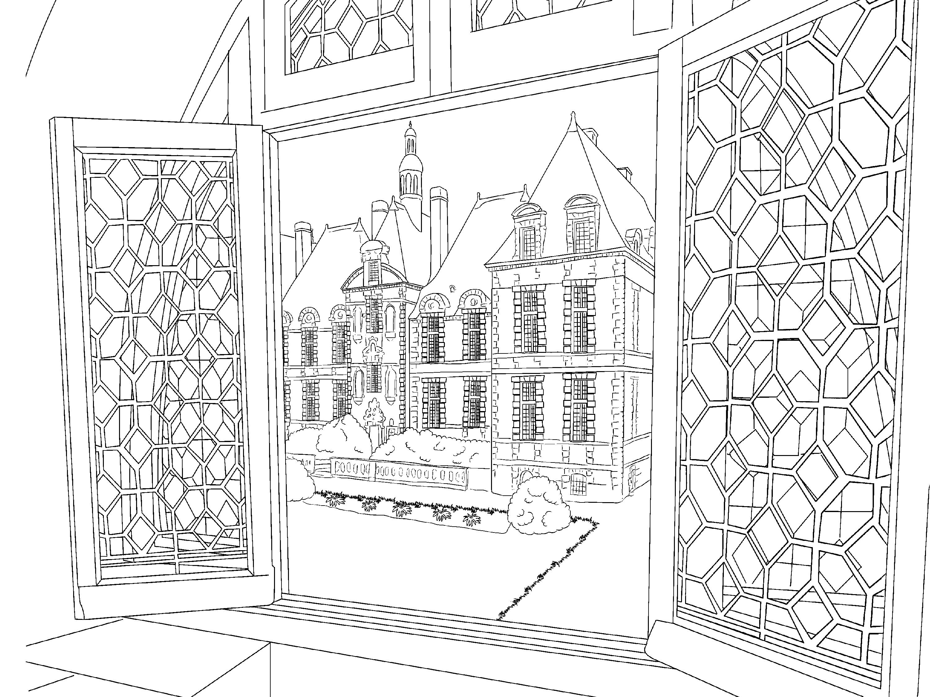 Beautiful Scenery Colouring Pages In The Playroom Scenery Coloring Pages