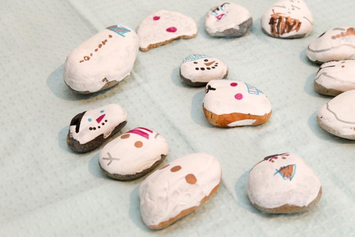 stone snowmen