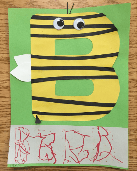 Letter B Bumble Bee Craft