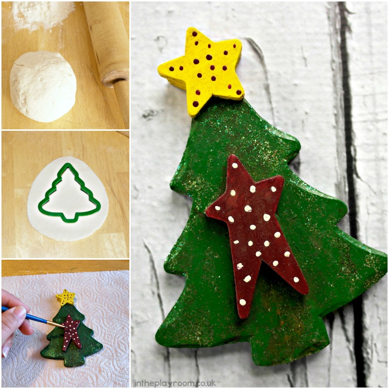 steps to make a salt dough christmas tree