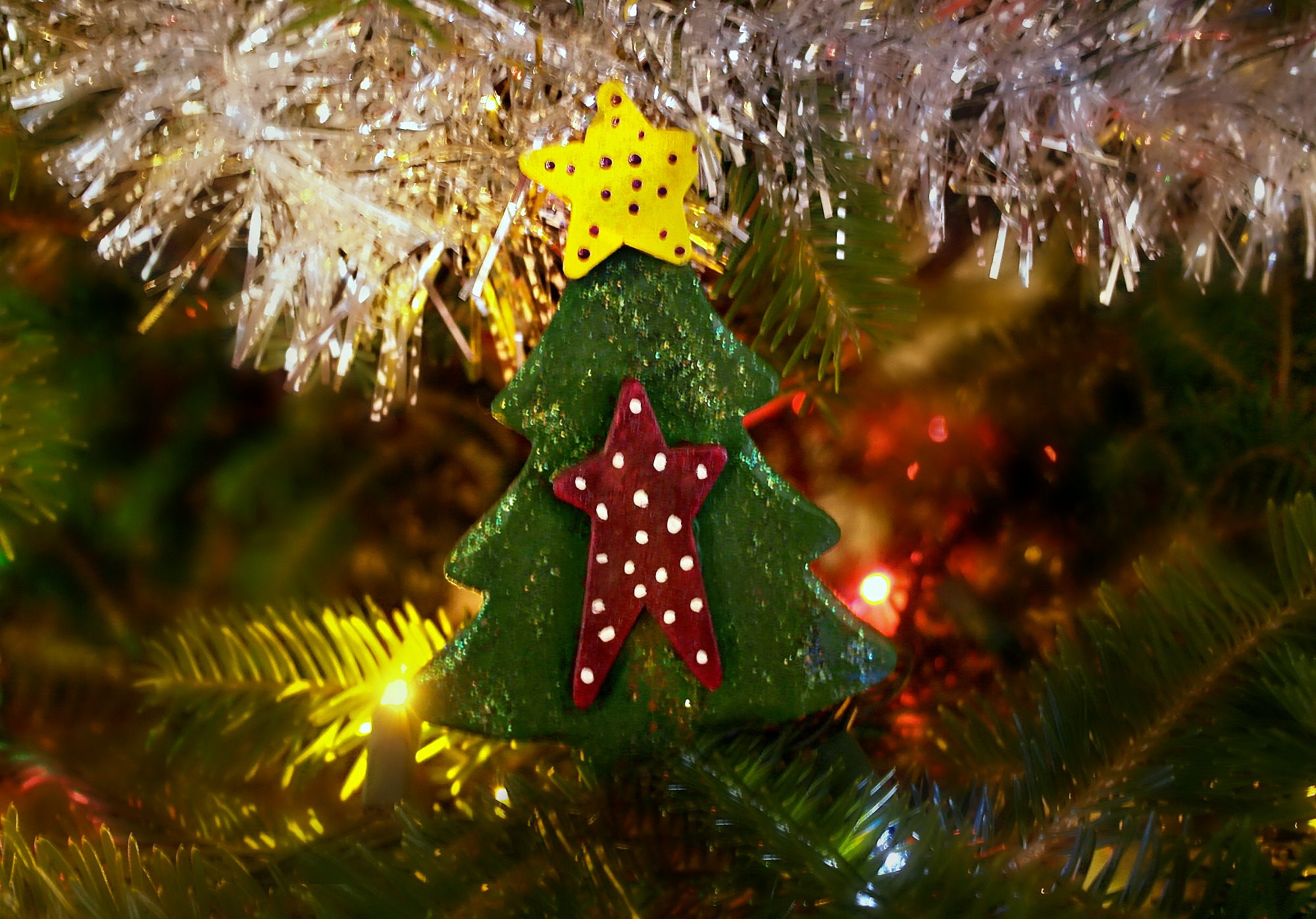 salt dough christmas tree decoration
