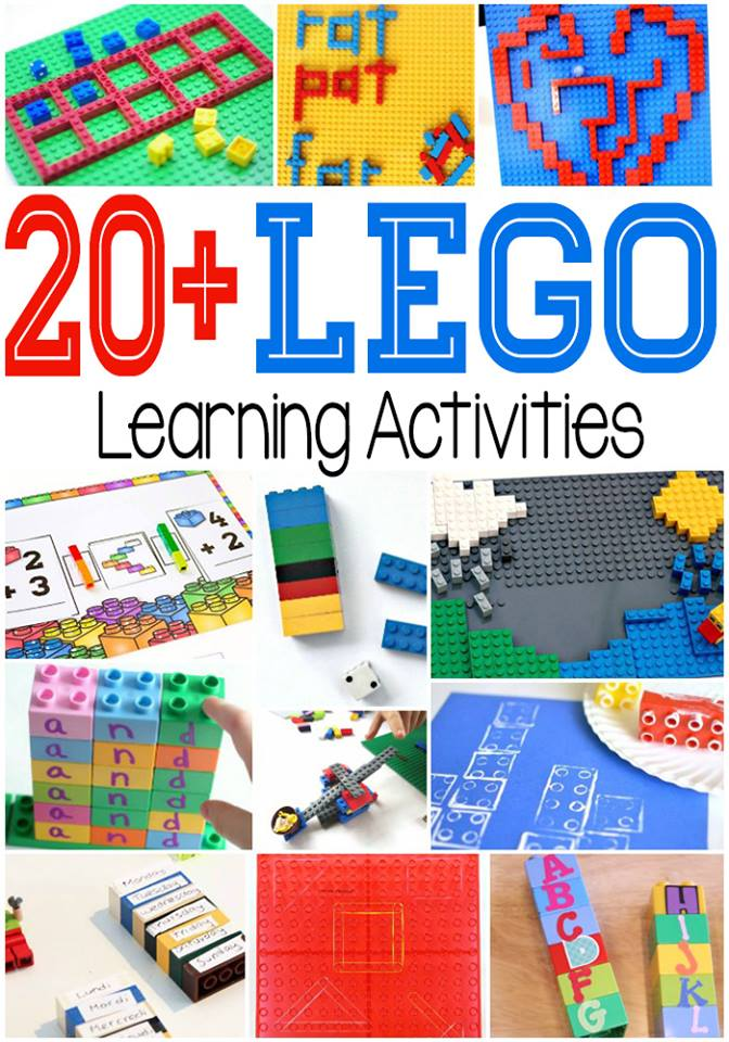 Over 20 lego learning activities for kids