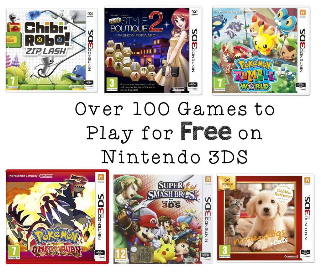 Over 100 Games to Play for Free on Nintendo 3DS, and how to download them