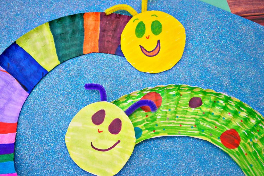 paper plate caterpillars