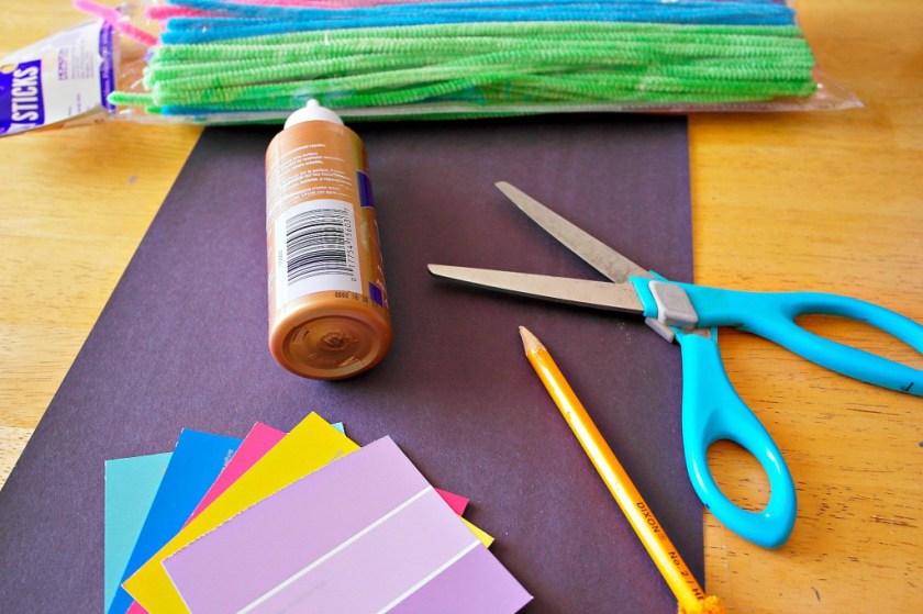 paint sample flower craft materials