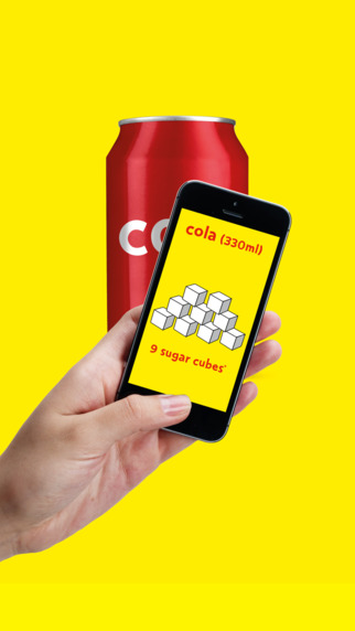 scanning a bar code with the sugar smart app from change4life