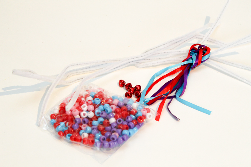 supplies for pipe cleaner bead threading