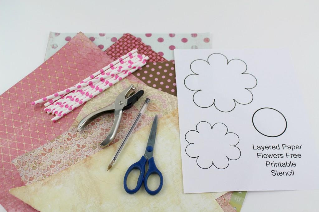 supplies for flower craft