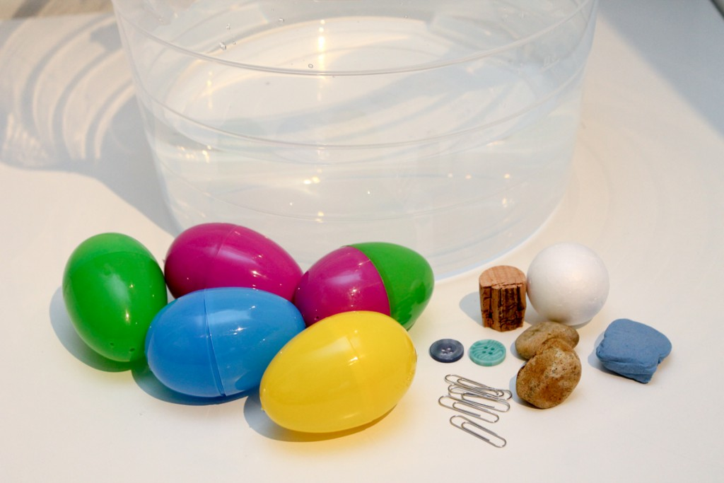 surprise egg sink or float