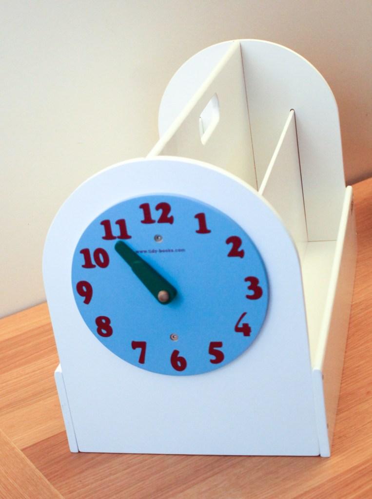 Tidy Books Book Box clock