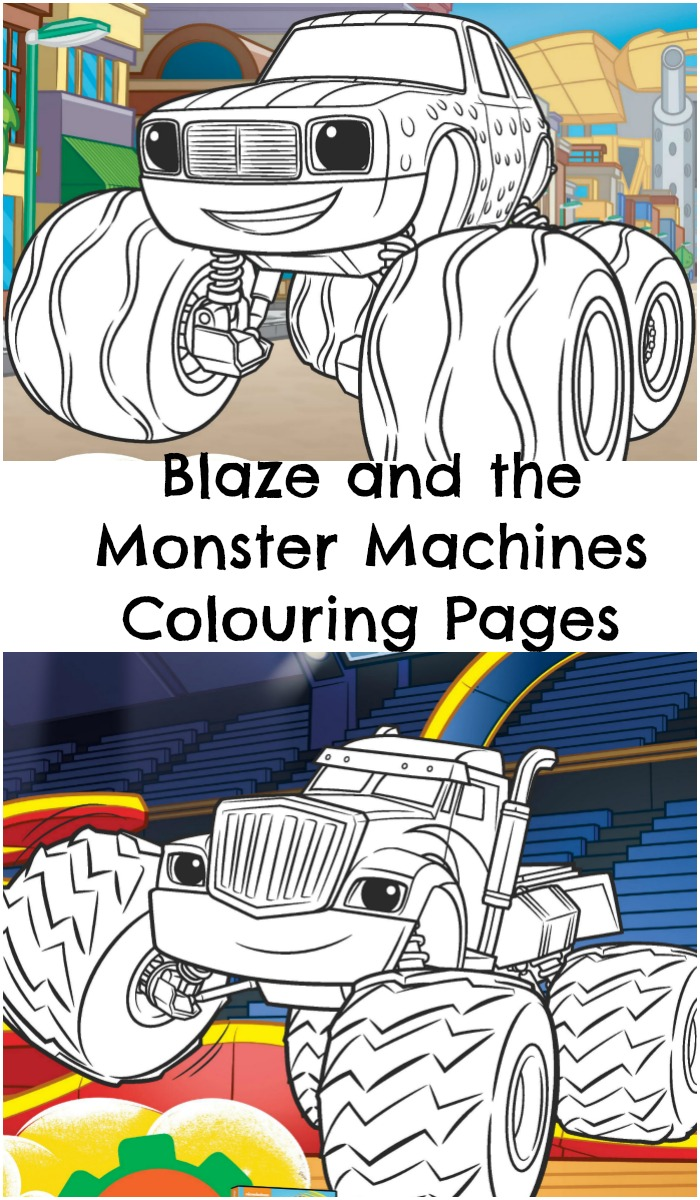 Blaze and the Monster Machine colouring pages, with three different pictures to print out.