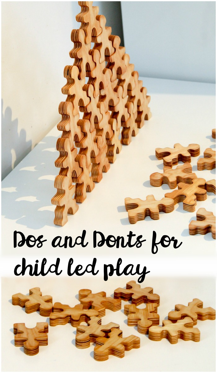 Dos and donts for child led play, from a montessori perspective