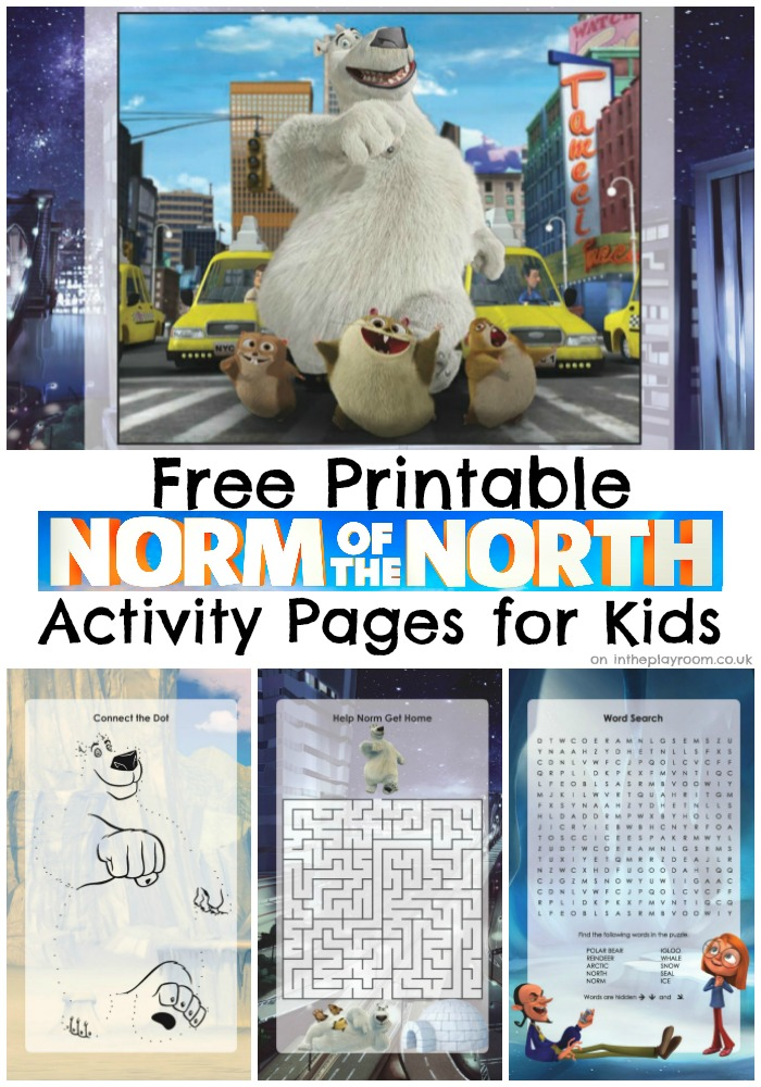 norm of the north movie activity printables for kids