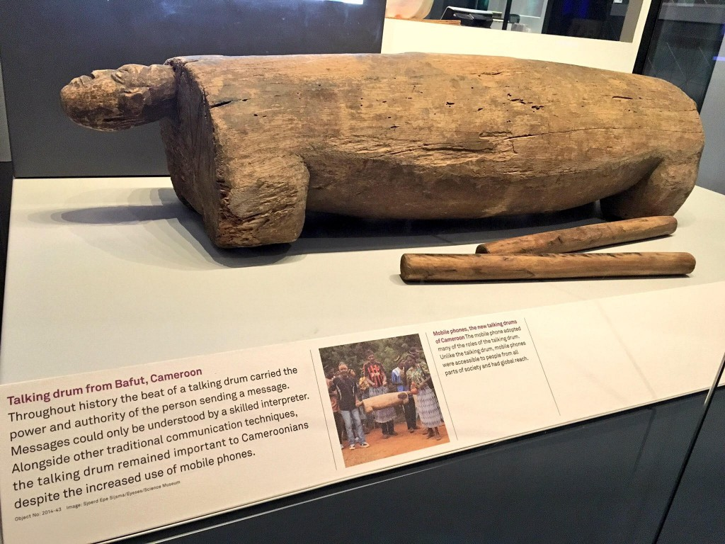 talking drum BT information age gallery at the science museum