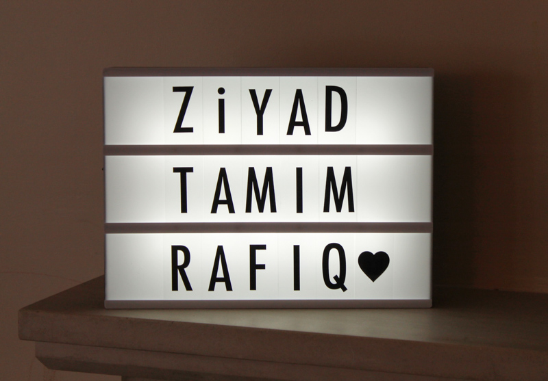 customisable cinematic light box