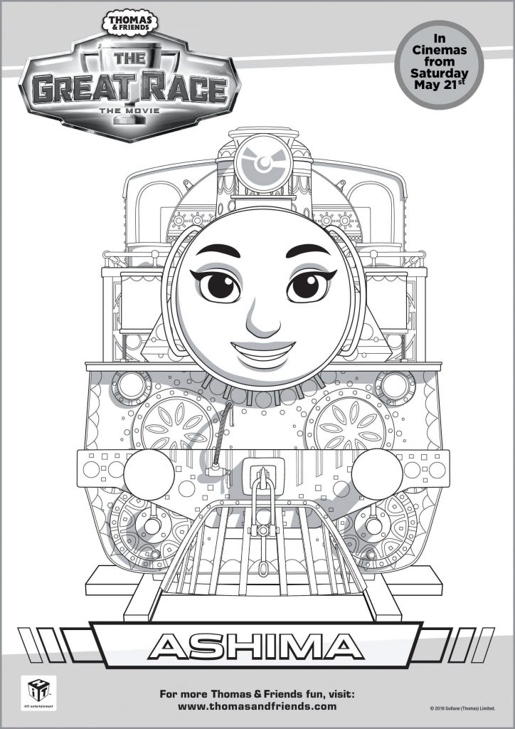thomas & friends ashima colouring page