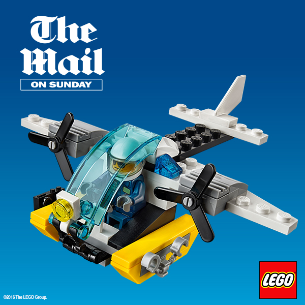 free Lego police helicopter toy in the daily mail