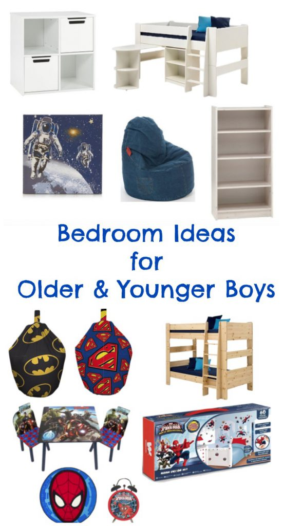 easy bedroom decorating ideas for older and younger boys