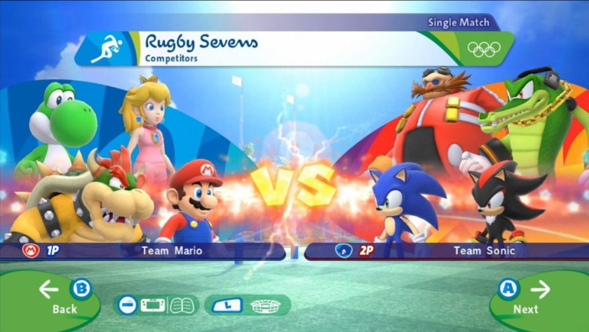 Mario & Sonic at the rio 2016 olympic games rugby sevens