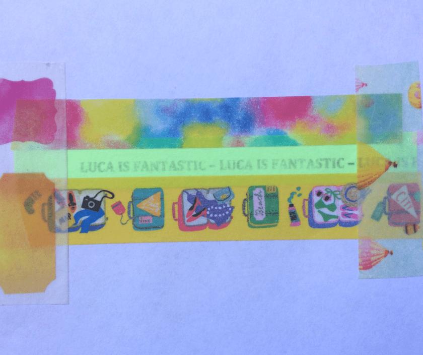 making personalised washi tape