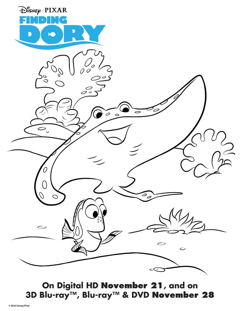 Finding Dory Colouring Pages and Activity Sheet Printables ...