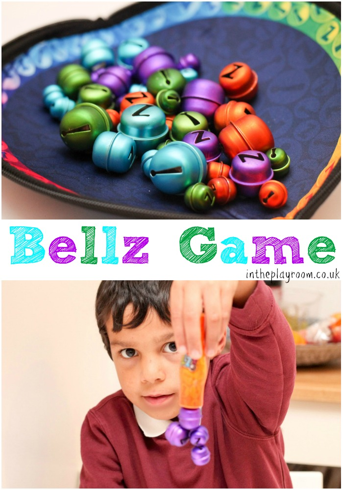 bellz game picking up colourful jingle bells with a magnetic wand