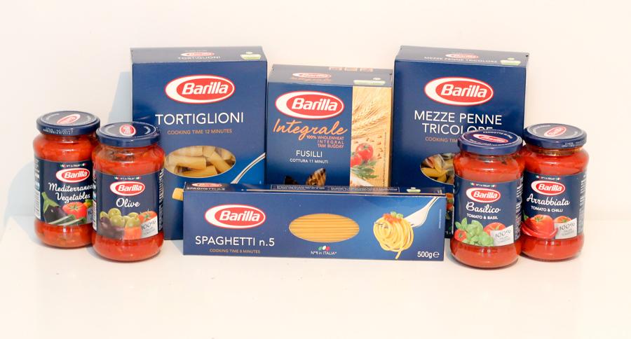 barilla pasta and sauces