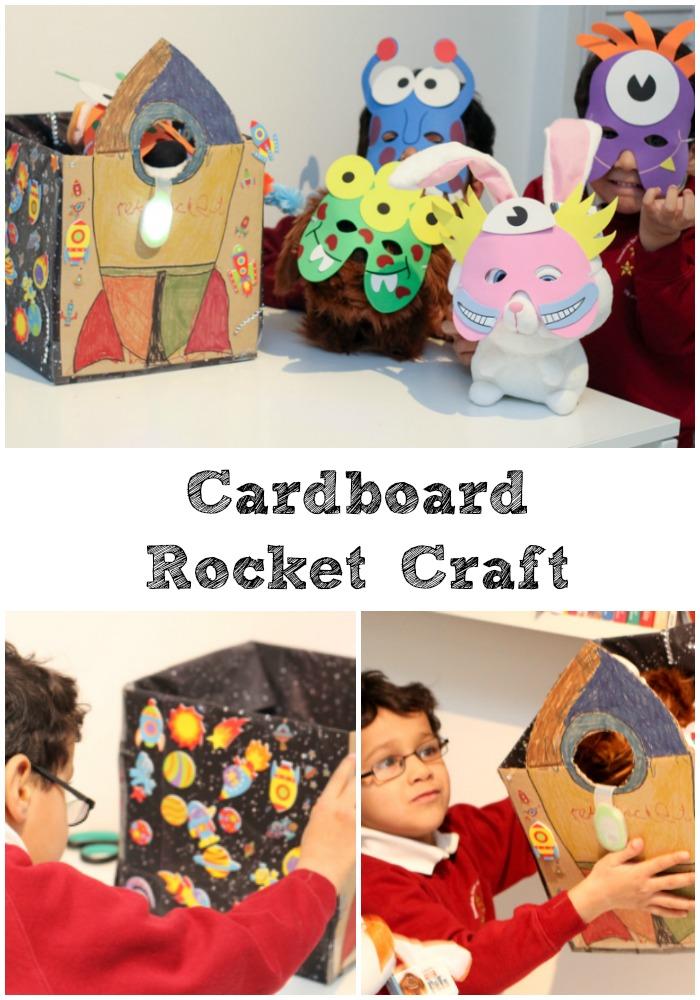 cardboard rocket craft for kids