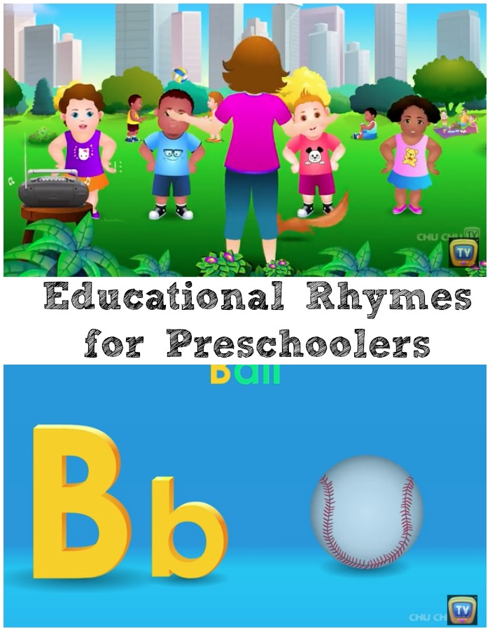 educational rhymes for preschoolers