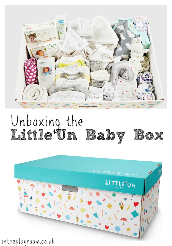 unboxing the little'un baby box, a finnish baby box company available in the UK, with all the baby essentials