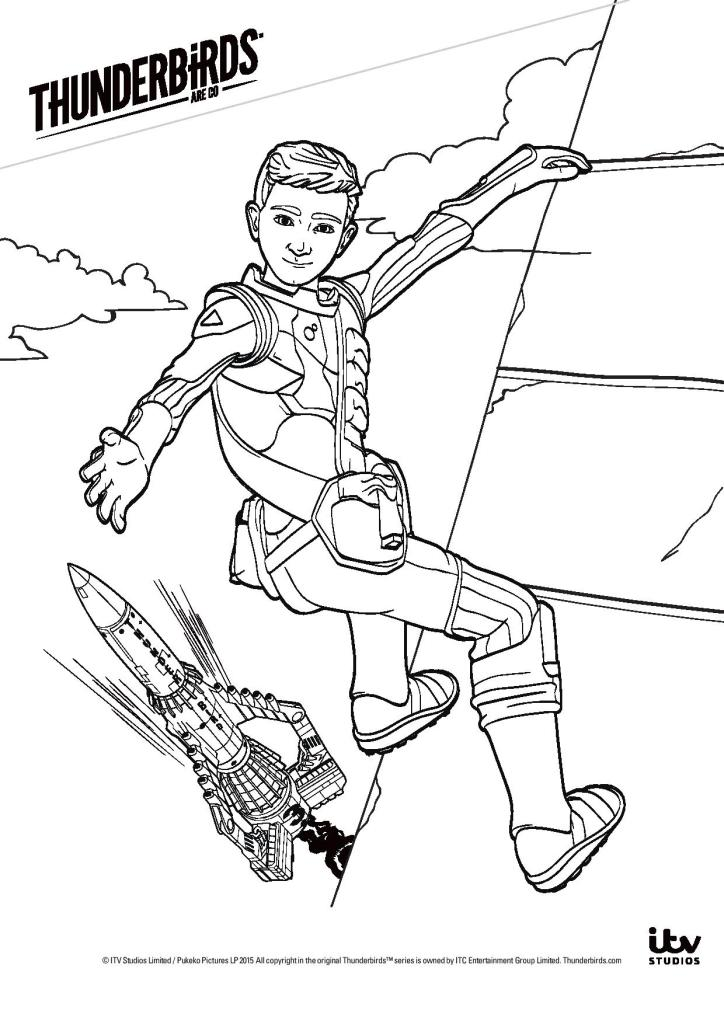 Thunderbirds colouring pages in the playroom for Thunderbirds coloring pages