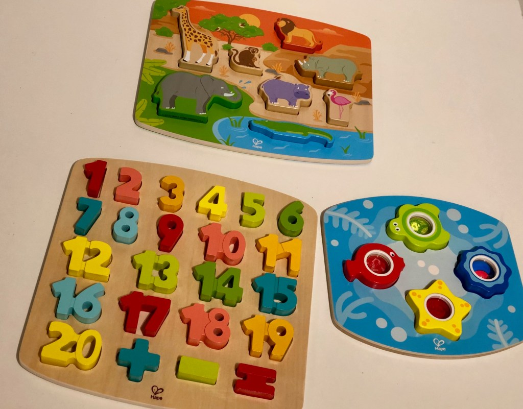 Play Discover And Learn With Wooden Puzzles From Hape In The Playroom