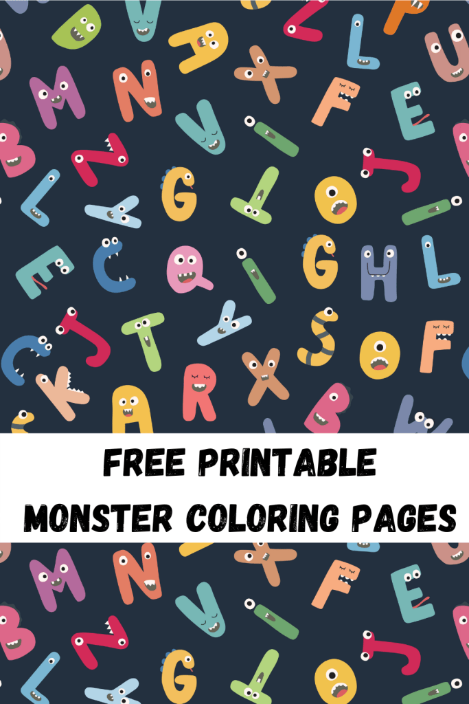 free printable monster coloring pages