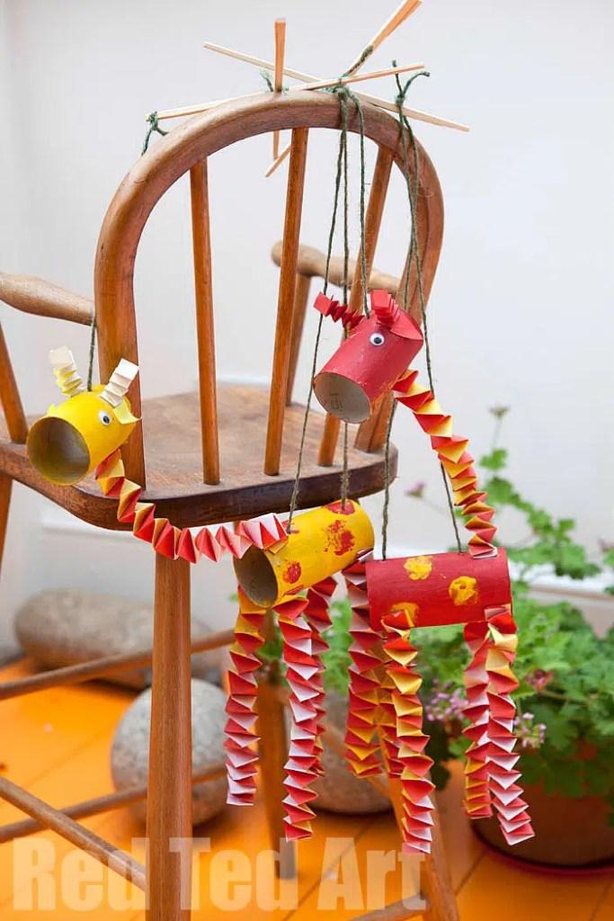 giraffe marionette puppets