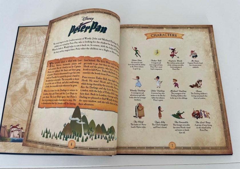Disney book of maps Peter Pan
