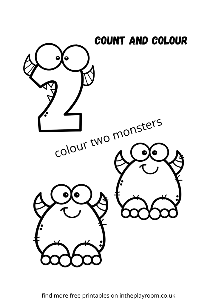 count and color monsters - two