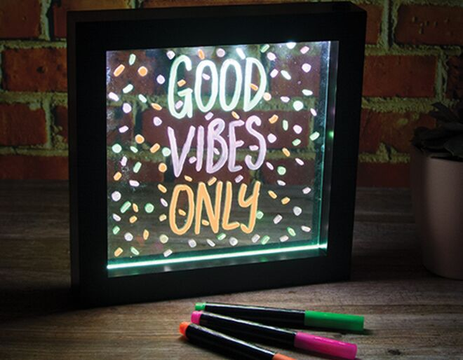 Wicked Uncle Neon Message Frame Review & Giveaway