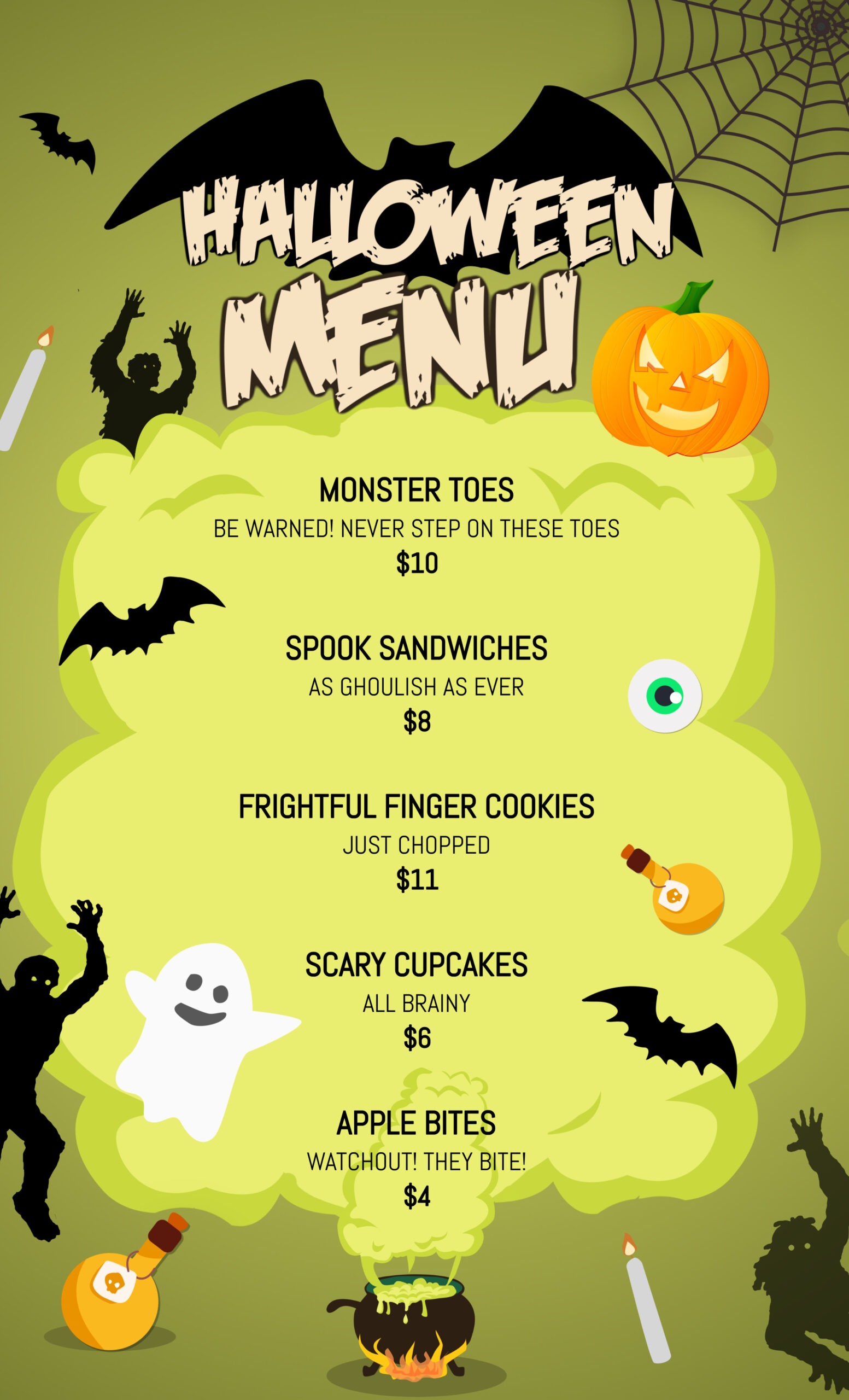 How To Create A Creeptastic Halloween Party Menu In 4 Steps