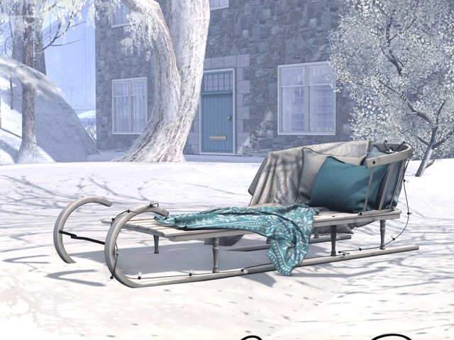 Nordic Snowflake Sledge Chaise