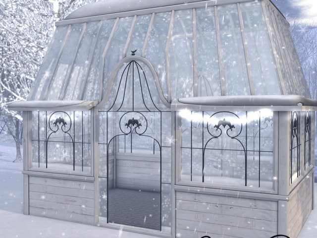 :CP: Winter Snowy Greenhouse
